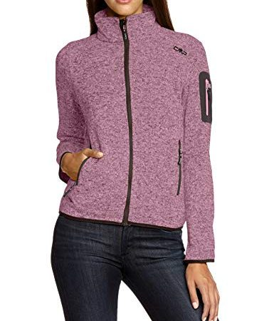 CMP Damen Strick Fleecejacke, Rosa Candy/Arabica, D40